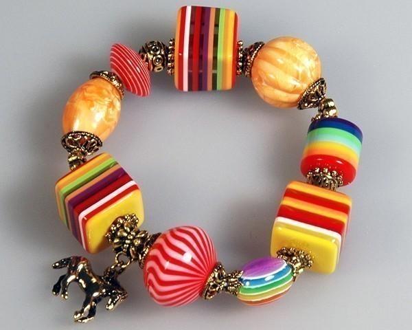 Bracelet arc en ciel perles bracelets colliers - Bracelet arc en ciel ...