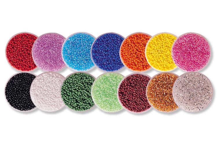 perles de rocaille set de 14 boites perles de rocaille 10 doigts. Black Bedroom Furniture Sets. Home Design Ideas