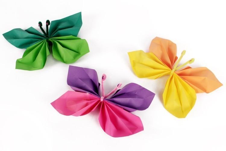 Papillons En Papier Activités Enfantines 10 Doigts
