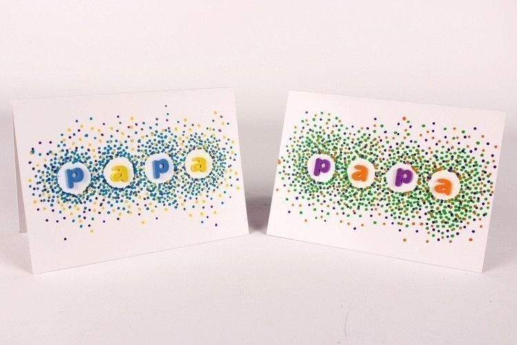 Carte confettis f te des p res 10 doigts - Carte fete des peres maternelle ...