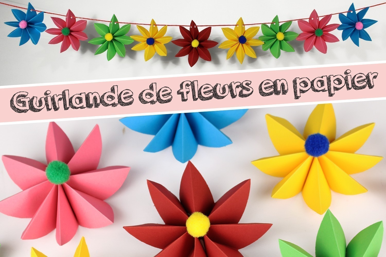 Guirlande De Fleurs En Papier Activites Enfantines 10 Doigts