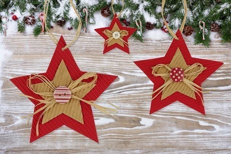 Favori Etoiles de Noël en carton ondulé - Noël - 10 Doigts SA83