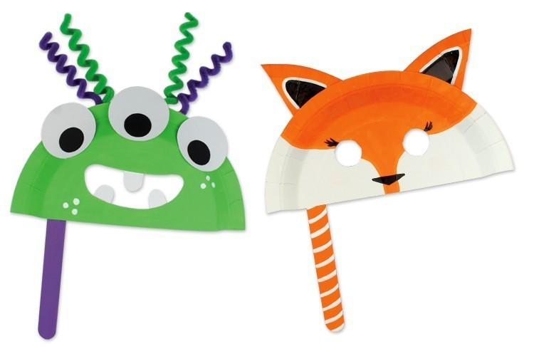 fabriquer un masque avec une assiette en carton carnaval. Black Bedroom Furniture Sets. Home Design Ideas