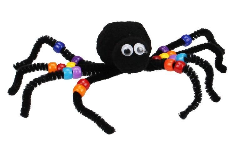 Araignées En Pompons Et Chenilles Halloween 10 Doigts