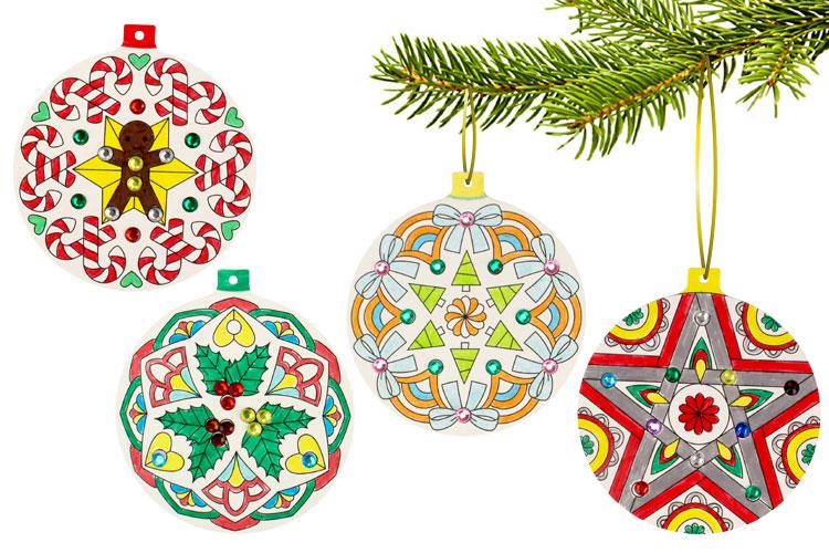 Boules de Noël Mandala à colorier - Mandalas - 10 Doigts