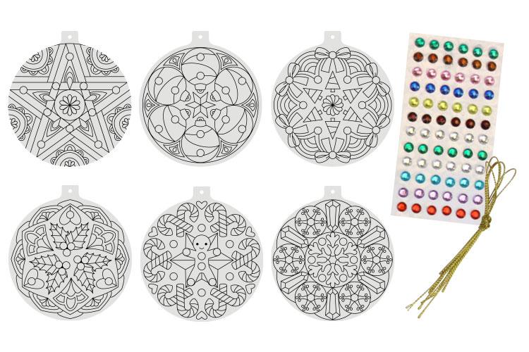 Boule De Noel Mandala A Colorier Mandalas 10 Doigts
