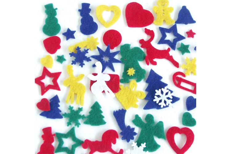 Set De 170 Motifs De Noël En Feutrine Couleurs Assorties Feutrine