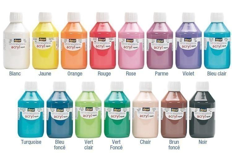 Peinture acrylique opaque 80 ou 250 ml acryliques scolaire 10 doigts - Peinture glycero ou acrylique ...