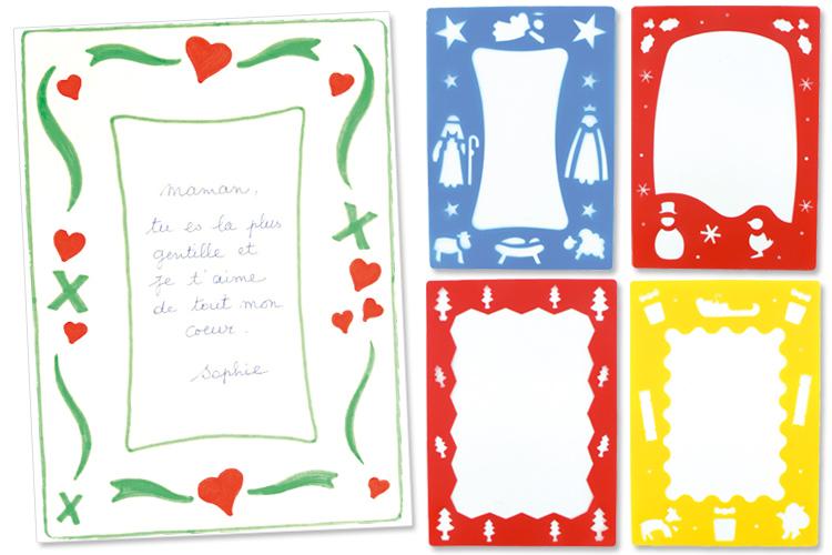 Pochoirs Noël Pour Poèmes Et Compliments Set De 4