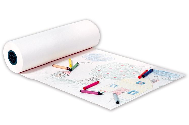 rouleau de papier blanc pour dessiner ou peindre papier. Black Bedroom Furniture Sets. Home Design Ideas