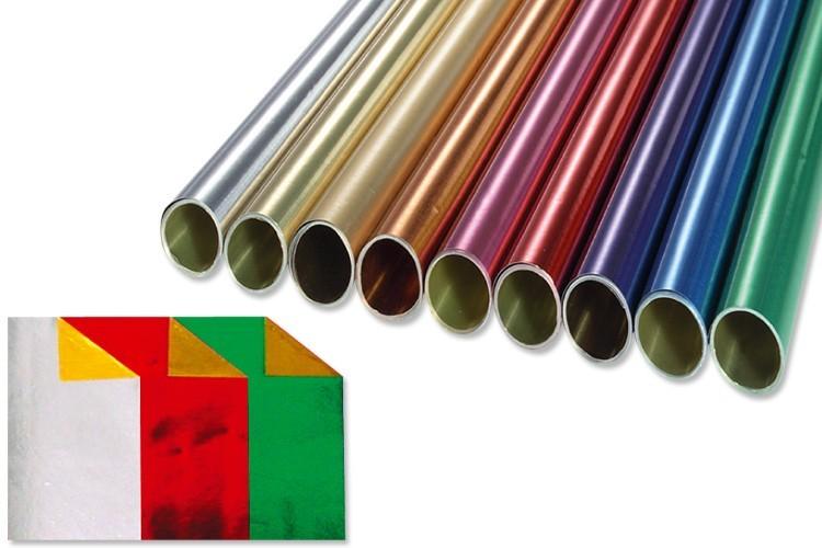Rouleau De Papier Aluminium Metallise Double Face Papier Metallise