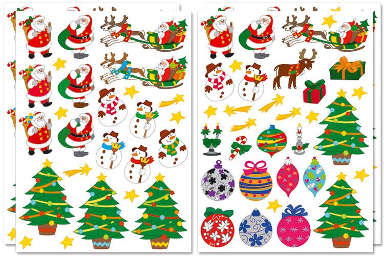 Gommettes De Noel Gommettes de Noël   2 planches   Gommettes Noël   10 Doigts