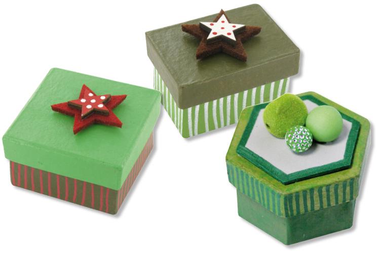 set de 3 bo tes en carton papier m ch formes assorties ronde h xagonale coeur bo tes. Black Bedroom Furniture Sets. Home Design Ideas