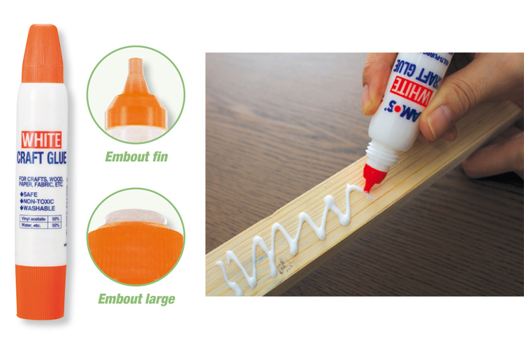 colle forte blanche en tube avec double applicateur colles diverses 10 doigts. Black Bedroom Furniture Sets. Home Design Ideas