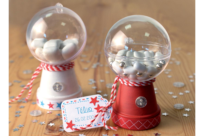 Personnaliser Une Boule De Noel Transparente boule en plastique transparent 3 en 1 - transparent - 10 doigts