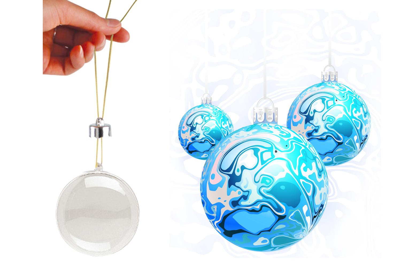 Boule De Noel Transparente A Decorer boule en plastique transparent 3 en 1 - transparent - 10 doigts