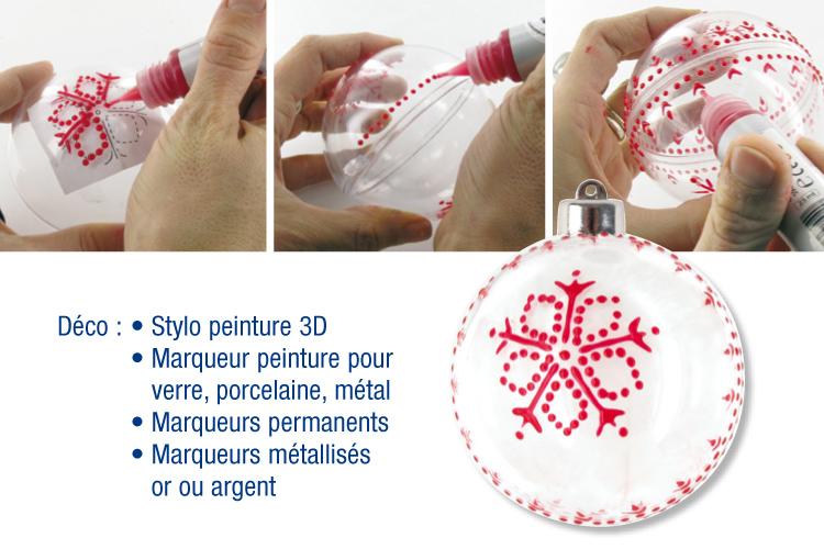 Stylos de peinture 3D, 6 couleurs Noël   10,5 ml   Stylos peinture
