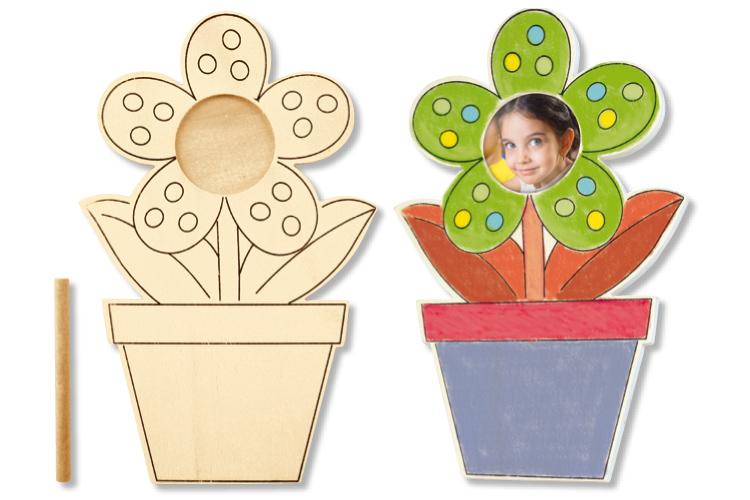 Coloriage Fleur Pot.Cadre Photo Pot De Fleur A Colorier Cadres Photos 10 Doigts