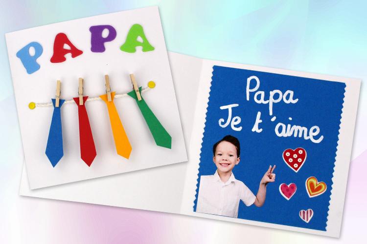 dernière conception offrir des rabais bon marché Carte cravates fête des pères - Fête des Pères - 10 Doigts