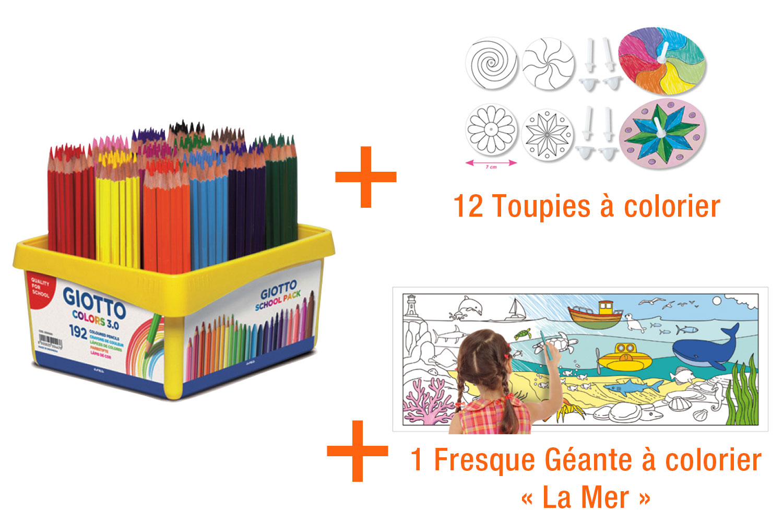 Giotto Colors 30 Coffret De 192 Crayons De Couleurs Cadeaux