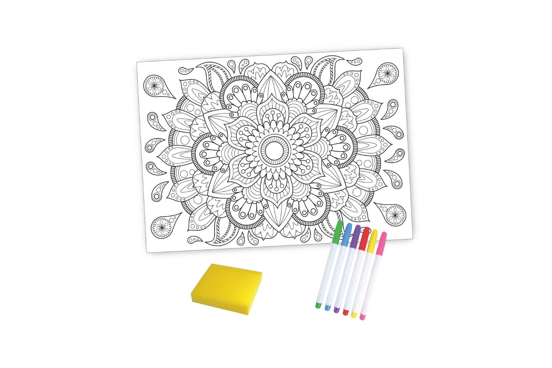 Coffret Mandala Coloriage Magique Effaçable Support Pré