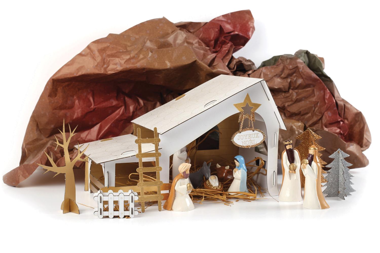Créche de Noël à fabriquer   Supports de fêtes en carton   10 Doigts