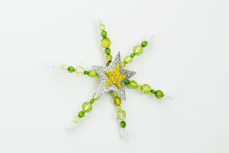 Flocons De Neige En Perles Noel 10 Doigts