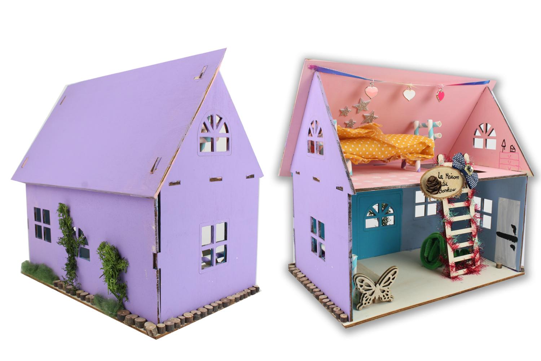 maison en bois construire maquettes en bois 10 doigts. Black Bedroom Furniture Sets. Home Design Ideas