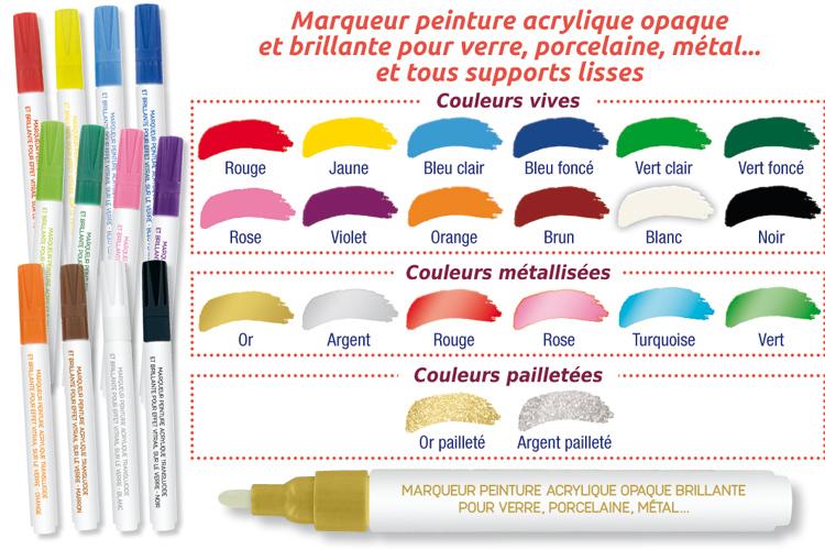 Marqueurs Peinture Pour Verre Porcelaine Métal Marqueurs 10 Doigts