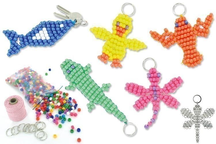 Notice pour cr ation de porte clefs en perles porte cl s 10 doigts - Fabriquer un porte clef ...