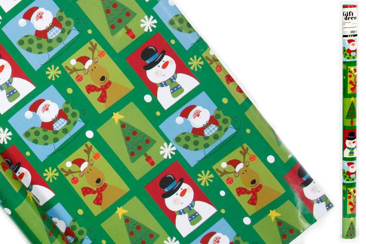 Rouleaux Papier Cadeau Noël Papiers Cadeaux 10 Doigts