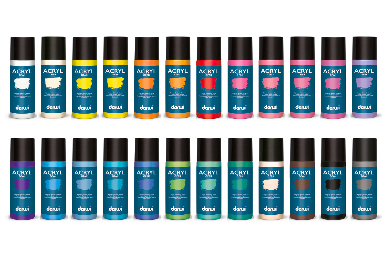 peinture acrylique opaque 80 ou 250 ml - large choix de couleurs