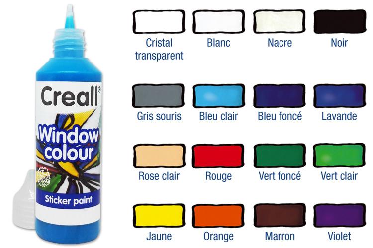 Peinture Film Repositionnable Window Color Peintures Verre Et