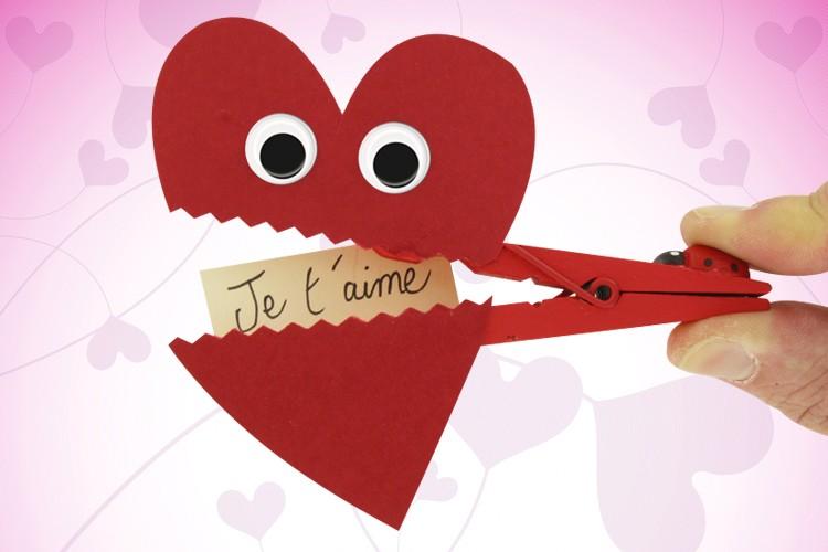 Pince à Linge Coeur Fête Des Mères 10 Doigts