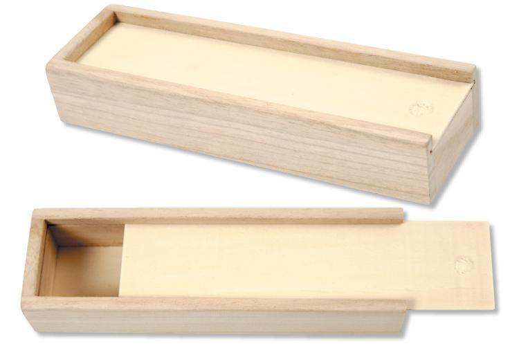 vente chaude en ligne 61492 cc8d2 Plumier en bois avec tiroir coulissant