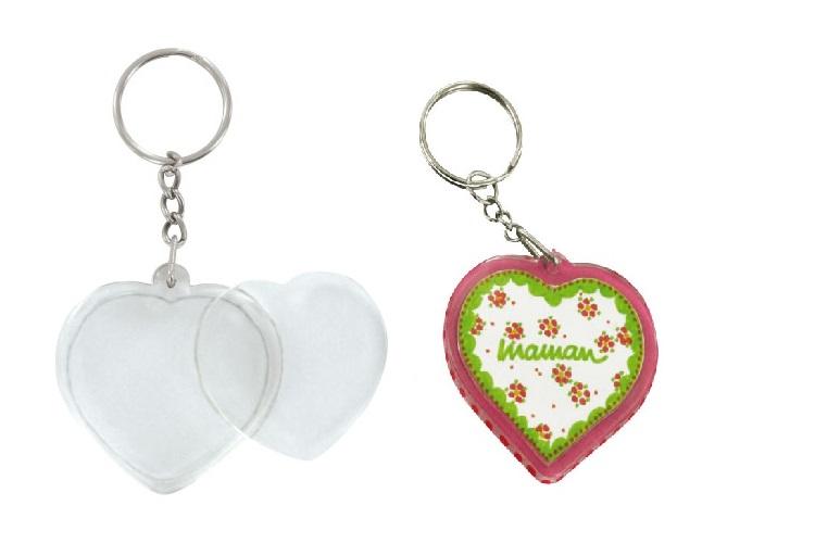 Porte-clefs en plastique transparent à personnaliser - Transparent –  10doigts.fr 0d4326afbc5