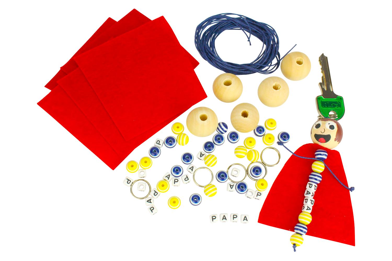 Fabriquer Porte Clé Facile porte-clés papa super héros - kit pour 6 réalisations