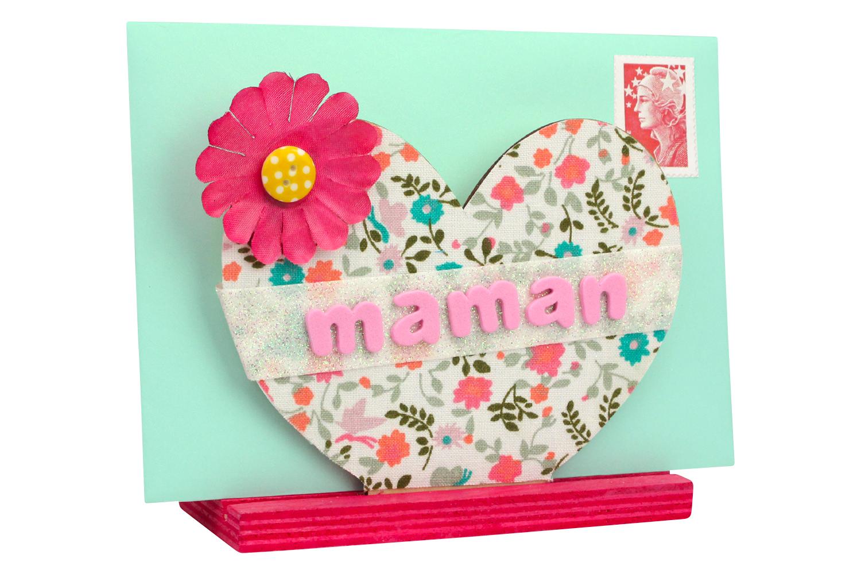 Porte courrier coeur en bois range courrier 10 doigts - Porte courrier ...