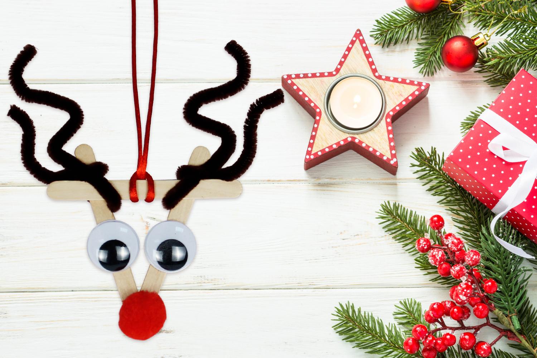 Rudolphe Le Renne Du Pere Noel Noel 10 Doigts