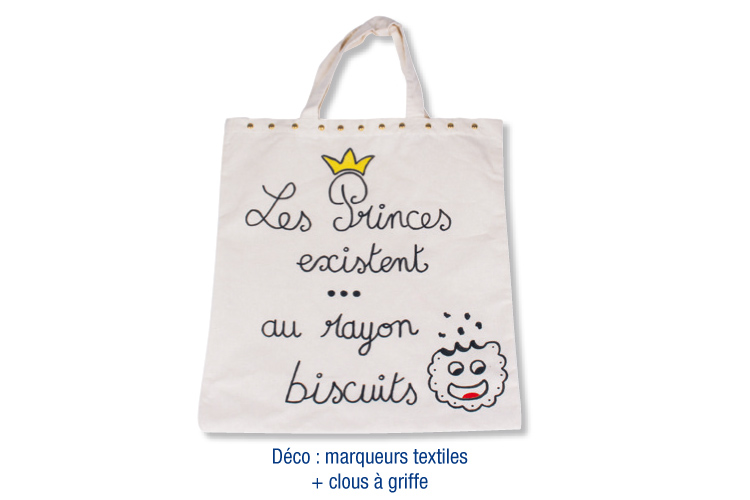 Sac shopping en coton blanc