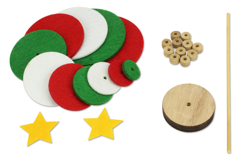Fabriquer Deco Noel En Feutrine kit sapin de noël en feutrine
