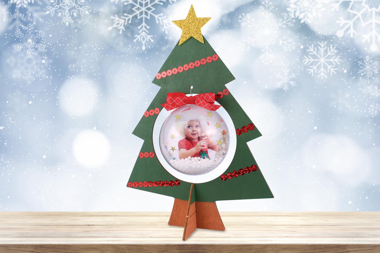 Idee Deco Boule Plastique Transparente Noel sapin en bois - noël - 10 doigts