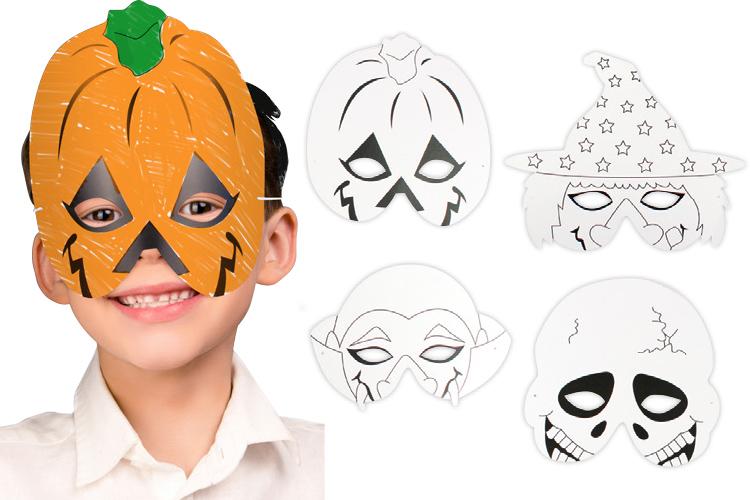Masques à Colorier Halloween Set De 4