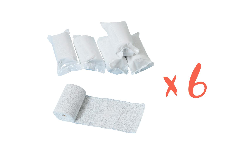 bandes plâtrées blanches - plâtre - 10 doigts