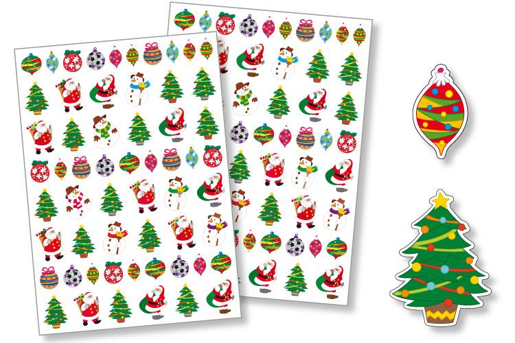 Gommettes De Noel Gommettes Noël   2 planches   Gommettes Noël   10 Doigts