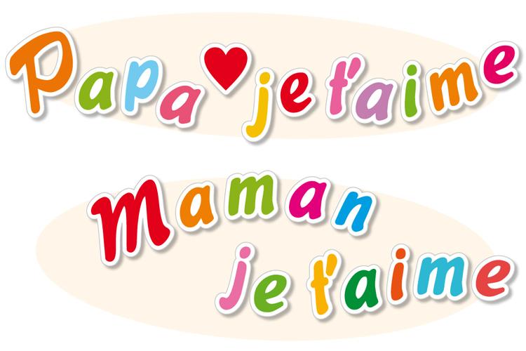 Stickers Lettres De Maman Je Taime Et Papa Je Taime