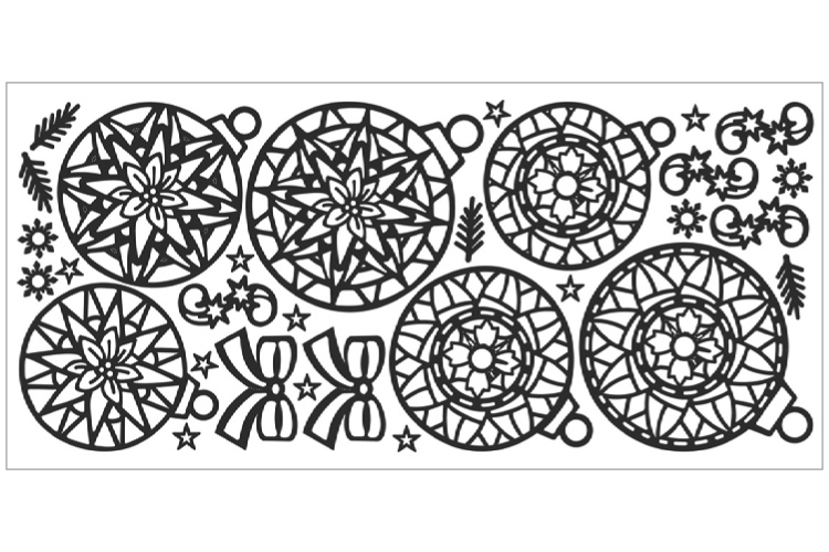 Stickers Peel Off Mandala Noël à Colorier Stickers