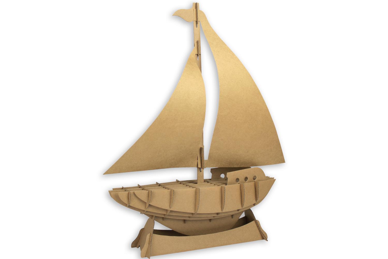 Voilier Maquette En Carton Hauteur 45 Cm