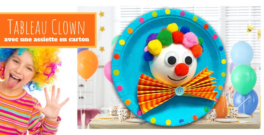 DIY clown 3D assiette