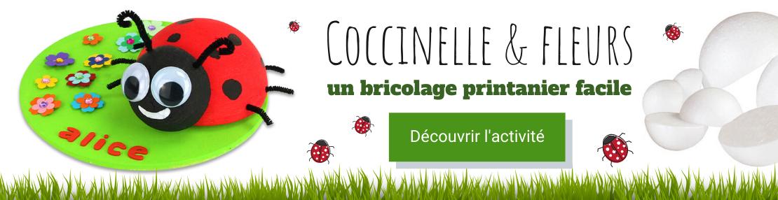 DIY coccinelle fleurs